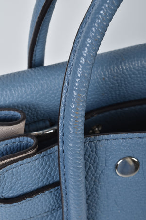 Michael Kors Large Mercer All-in-One Leather Satchel in Blue-Grey