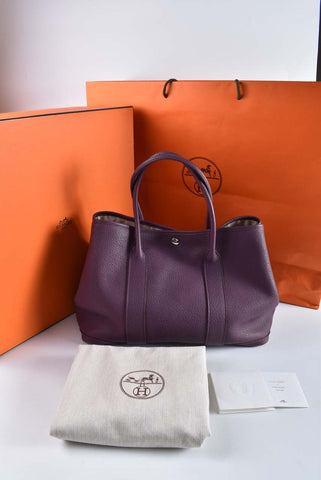 Hermès Garden Party 36 in Cassis Stamp O