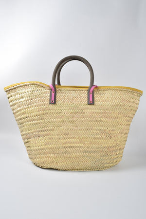 Jacquemus Le Grand Panier Soleil Bag with Pink Strap