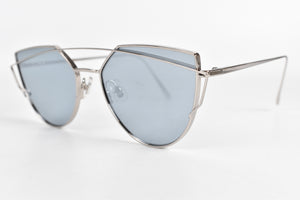 Gentle Monster Love Punch Sunglasses in Blue x Silver