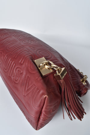 Louis Vuitton Limited Edition Red Leather Paris Souple Whisper RC3058