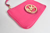 Michael Kors Fulton Pink Leather Wristlet