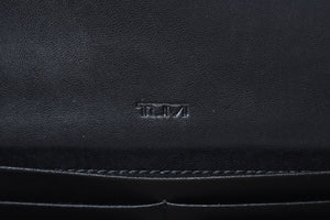 Tumi Continental Coated Canvas Wallet in Black and White