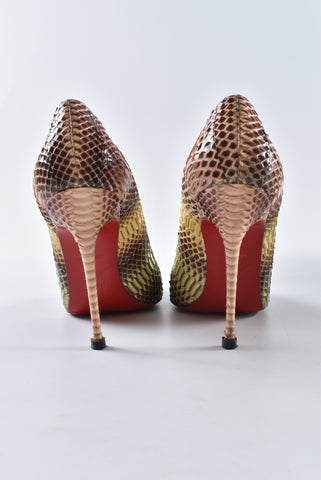 Christian Louboutin Décolleté 554100 Watersnake Degrade Multicolor Pumps
