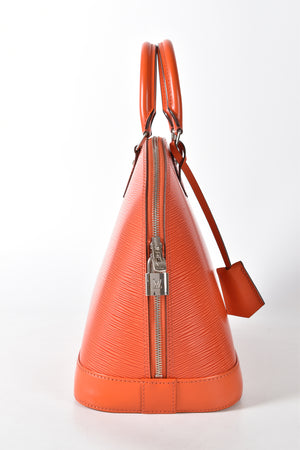 Louis Vuitton Orange Piment Epi Leather Alma PM Bag