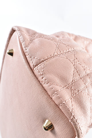 Christian Dior Pink Cannage Quilted Panarea Tote 09-BO-1101