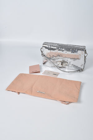 Miu Miu Silver Sequin Crossbody Bag