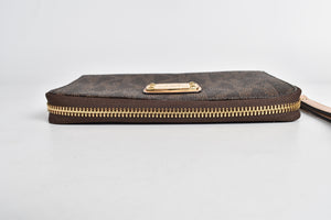 Michael Kors Jet Set Brown Travel Wristlet Wallet