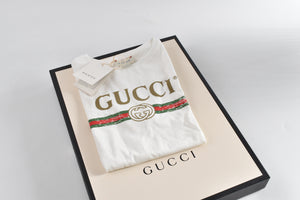 Gucci Archive Logo-Print Cotton T-shirt in White