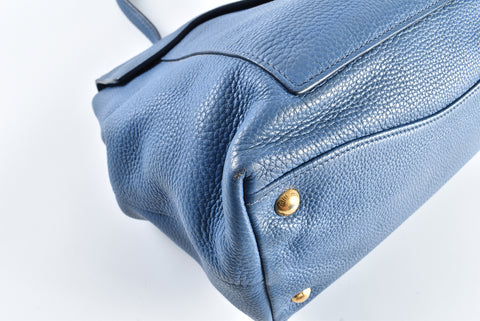 Miu Miu Blue Leather Shoulder Bag