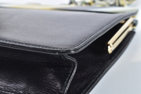 Escada Black Clutch with Chain