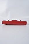 Prada Red Saffiano Leather Continental Bow Wallet