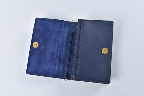 Dior J'adior Indigo Blue Calfskin Wallet on Chain Bag S0105CVXS 85BU  GHW 12-MA-0187