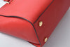 Michael Kors Selma Large Red Saffiano Leather Satchel
