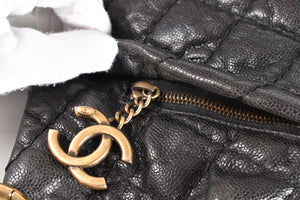 Chanel 2011 Caviar Seasonal Black Shoulder Bag GHW