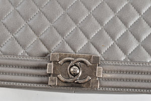 Chanel Stellar Fall Boy Lambskin in Grey SHW