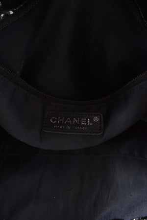 Chanel Black Patent Leather CC Logo