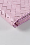Bottega Veneta Intrecciato Nappa Clutch in Light Pink/Beige/Purple