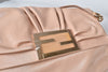 Fendi Beige Leather Large Mia Flap Bag 8BT163