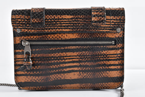Proenza Schouler Snake Print Embossed Leather WOC Serial #2000022940