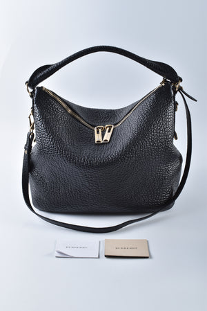 Burberry Ledbury Convertible Hobo Heritage Grained Leather Small - Glampot