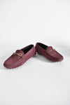 Tod's Gommino Crystal-Embellished Suede Loafers in Purple Size 35