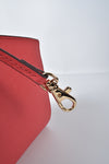 Michael Kors Selma Medium Coral Saffiano Leather Crossbody Bag