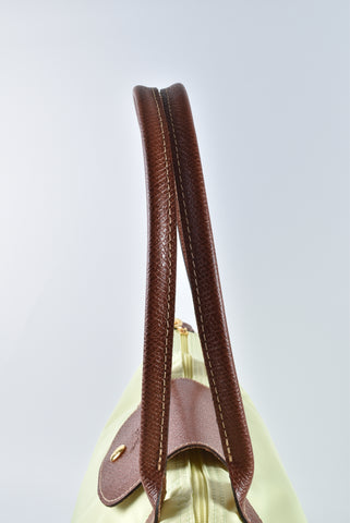 Longchamp Le Pliage Yellow Long Handle Tote Bag L