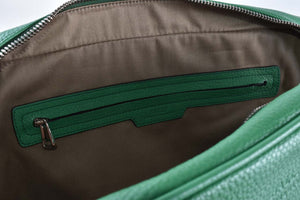 Bally Migan Men Calf Grained Leather Laptop Bag in Green