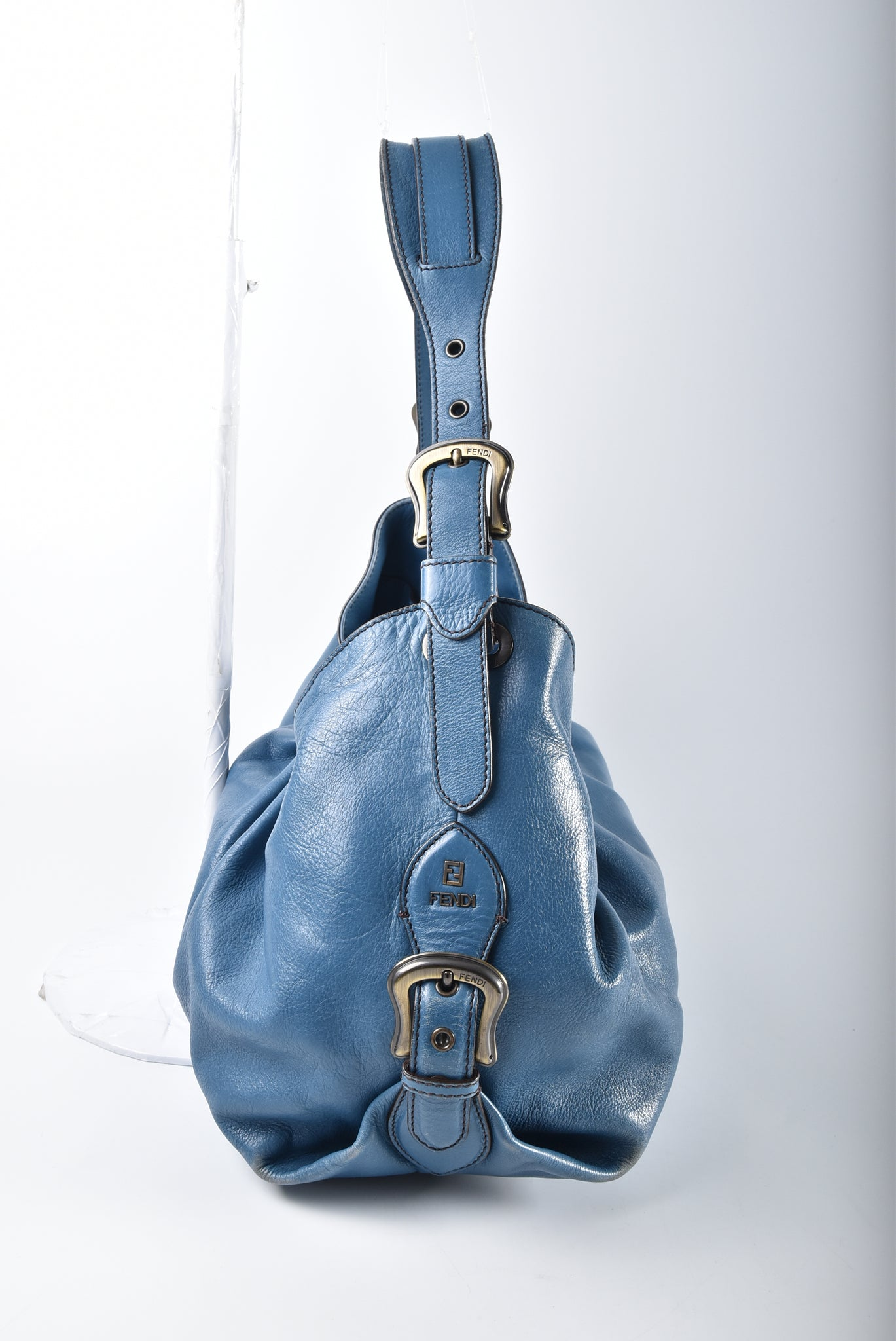 Fendi Shopper Blue Leather Bag 23058BR579YR2089