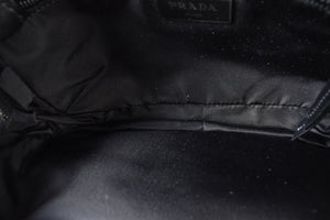 Prada Black Nylon Stud Detailed Belt Bag A/W 2019