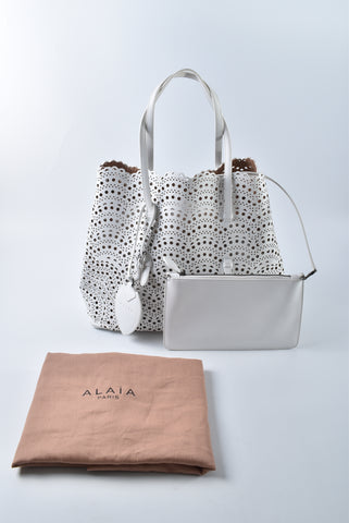 Alaïa Vienne Laser-cut Leather Tote - Glampot