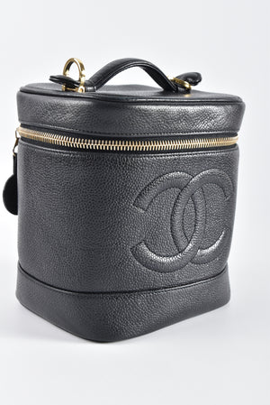 Chanel Vanity Case Black Caviar with GHW 4203895 - Glampot