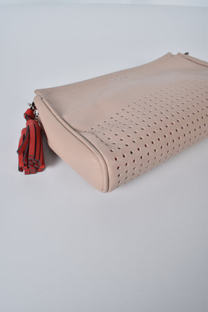 Coach 48956 Legacy Perforated Beige Wristlet/Clutch