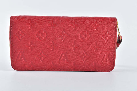 Louis Vuitton M63691 Scarlet Empreinte Leather Zippy Wallet SP3108