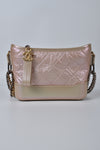 Chanel Iridescent Aged Calfskin Quilted Small Gabrielle Hobo Light Pink