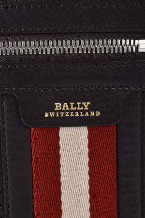 Bally Men's Oslo Perforated Messenger Bag in Brown