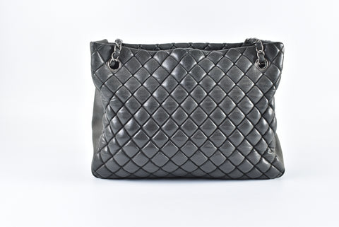 Chanel Quilted Iridescent Calfskin Leather New Bubble Tote Bag 17103443