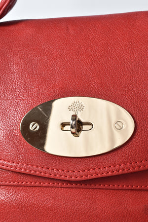 Mulberry Valentines Red Leather Alexa Bag