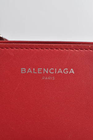 Balenciaga Extra Small Maillon Work AJ in Garnet Red