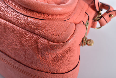 Chloe Paraty Top Handle Medium Light Peach Leather Satchel