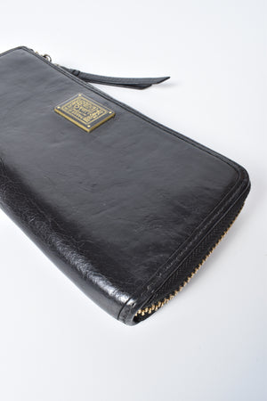Coach Black Poppy Long Zippy Wallet