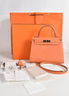Hermes Sac Kelly Sellier 28 Veau Epsom in 92 Mangue