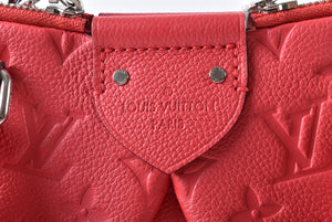 Louis Vuitton Cherry Monogram Empreinte Leather Mazarine PM Bag