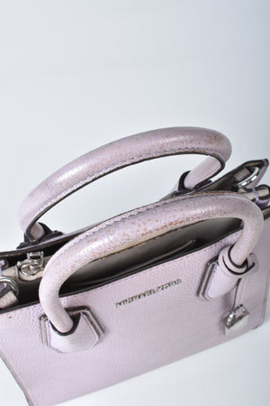 Michael Kors Small Mercer Color-Block Leather Tote Light Purple