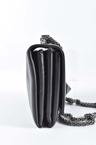 Valentino Rockstud Va Va Voom Black Leather Clutch