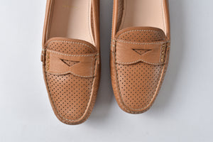 Prada Women's Leather Loafers Brown