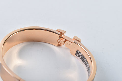 Hermes Clic H Black Rose Gold