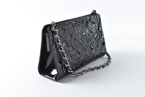 Chanel Black Patent Leather 'Lucky Charms' Evening Bag 11964993