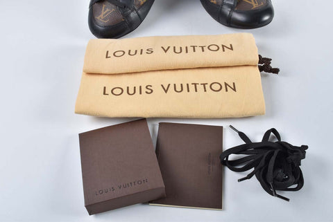 Louis Vuitton PM S 0111 Monogram Leather Globe Trotter Sneakers - Size 6 1/2
